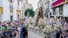 La procesión de la Virgen del Carmen del Santo Ángel, en imágenes
