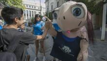 La tortuga Chelo se muda a la Plaza Nueva