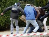 En imágenes: Así han apaleado a un activista «okupa» en el homenaje a Franco