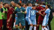Monumental pelea en el derbi romano