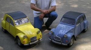 Así de bonitas y reales son las maquetas de Christophe Goujon de los 4L y 2 CV