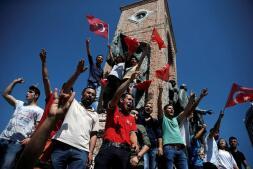 La manifestación organizada por los partidarios del presidente turco, Tayyip Erdogan, en imágenes