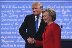 Las mejores fotos del debate presidencial en EE.UU.
