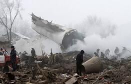 Las imágenes más impactantes del avión turco estrellado en Kirguistán