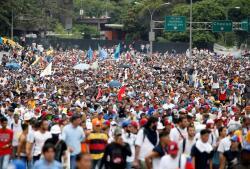 En imágenes, la manifestación contra el presidente Nicolás Maduro en Caracas