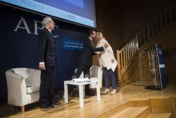 El encuentro entre Enrique Ponce y el crítico taurino Andrés Amorós, en imágenes