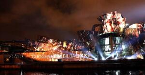 En imágenes: Imponente espectáculo de luz y color en el Guggenheim para conmemorar su XX aniversario