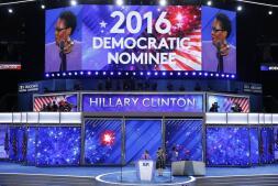 Segunda jornada de la convención del Partido Demócrata