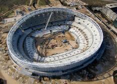 Así avanzan las obras del nuevo estadio del Atlético