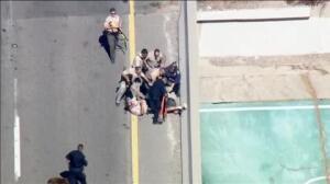 Espectacular persecución policial en California