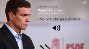 Pedro Sánchez no piensa en dimitir