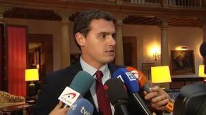 """Rivera sobre Podemos y 'Rodea el Congreso': """"Ellos dicen formalmente que no lo incitan pero evidentemente lo apoyan"""""""