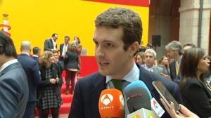 """Pablo Casado afirma que hay una """"interlocución muy fluida"""" entre Rajoy y Rivera"""