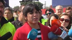 """Teresa Rodríguez: """"Este nefasto Gobierno está intentando criminalizar a los estibadores con mentiras"""""""