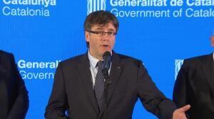 Puigdemont insta al Gobierno a colaborar con Cataluña