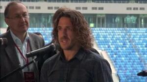 """Carles Puyol en San Petesburgo: """"Me han entrado ganas, incluso, de jugar"""""""