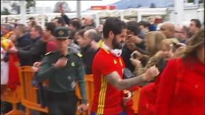 'La Roja' ya está en Gijón