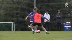 Modric se entrenaba ya con el grupo en Valdebebas