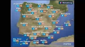 Previsión del tiempo para este martes, 28 de marzo