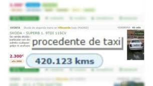 Venta ilegal de taxis en la calle