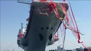 China bota su segundo portaaviones