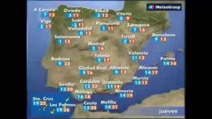 Previsión del tiempo para este jueves 27 de abril