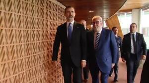 Felipe VI conmemora en Estrasburgo los 40 años de España en el Consejo de Europa