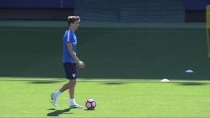 Penúltimo entrenamiento del Málaga antes de recibir al Real Madrid