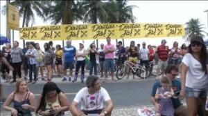 Miles de brasileños se concentran en Copacabana para pedir elecciones anticipadas