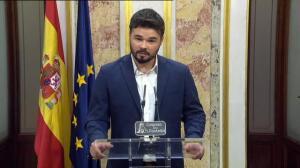 """Rufián critica la """"omertá"""" de PP y Ciudadanos para poner punto y final a la comisión de investigación de Fernández Díaz"""