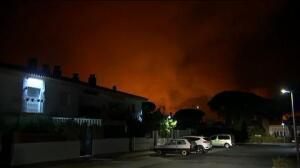 El incendio que amenaza a Doñana