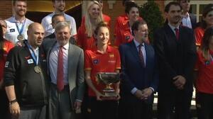Rajoy recibe en Moncloa a la selección española de baloncesto campeona de Europa