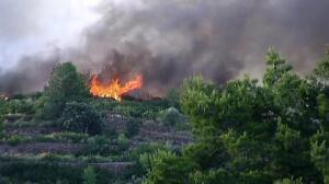 Un incendio forestal amenaza la Sierra Calderona en Gátova