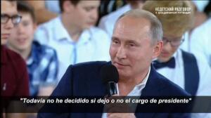Putin sigue sin decidir si se presentará a las presidenciales de 2018