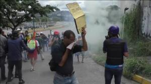 Altercardos en las marchas contra el gobierno de Nicolás Maduro