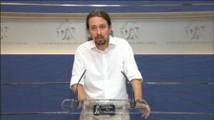 """Pablo Iglesias siente """"vergüenza"""" por la declaración de Rajoy en la Audiencia Nacional"""