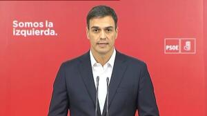 "Pedro Sánchez:""Presidente, dimita"""