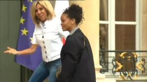Rihanna visita el Palacio del Elíseo