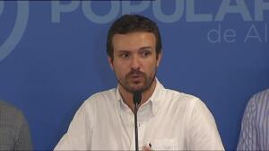 """Pablo Casado: """"El Gobierno responderá con firmeza y proporcionalidad si se vulnera la ley en Cataluña"""""""