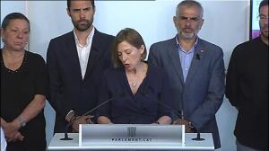 El Parlament catalán condena los atentados de Barcelona y Cambrils