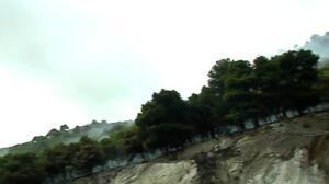 Desatado un incendio en la urbanización Buena Vista de Mijas (Málaga)