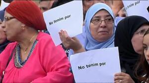 Concentración en Barcelona a favor de la paz