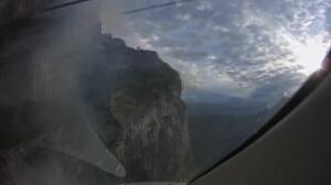 Los drones sobrevuelan el incendio de Ordesa