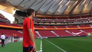 El Atlético de Madrid entrena por primera vez en su nuevo campo