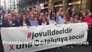 Protestas en Cataluña por las detenciones