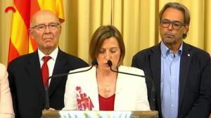 """Forcadell: """"Ante la represión, política y urnas"""""""