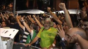 Tensión en Barcelona tras el registro en la Consejería de Economía de la Generalitat