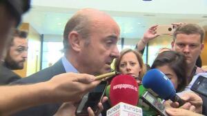 """De Guindos: """"La situación de Cataluña no ha tenido impacto económico"""""""