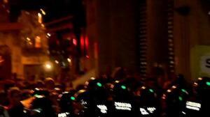Noche de violencia y tensión en Cataluña