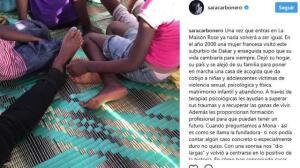 Sara Carbonero comparte todo de su viaje más solidario
